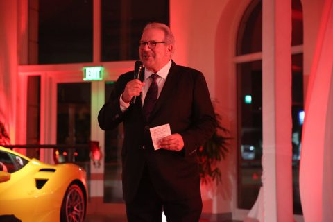 Ken Gorin Miami CEO of the Collection, Ferrari event speech