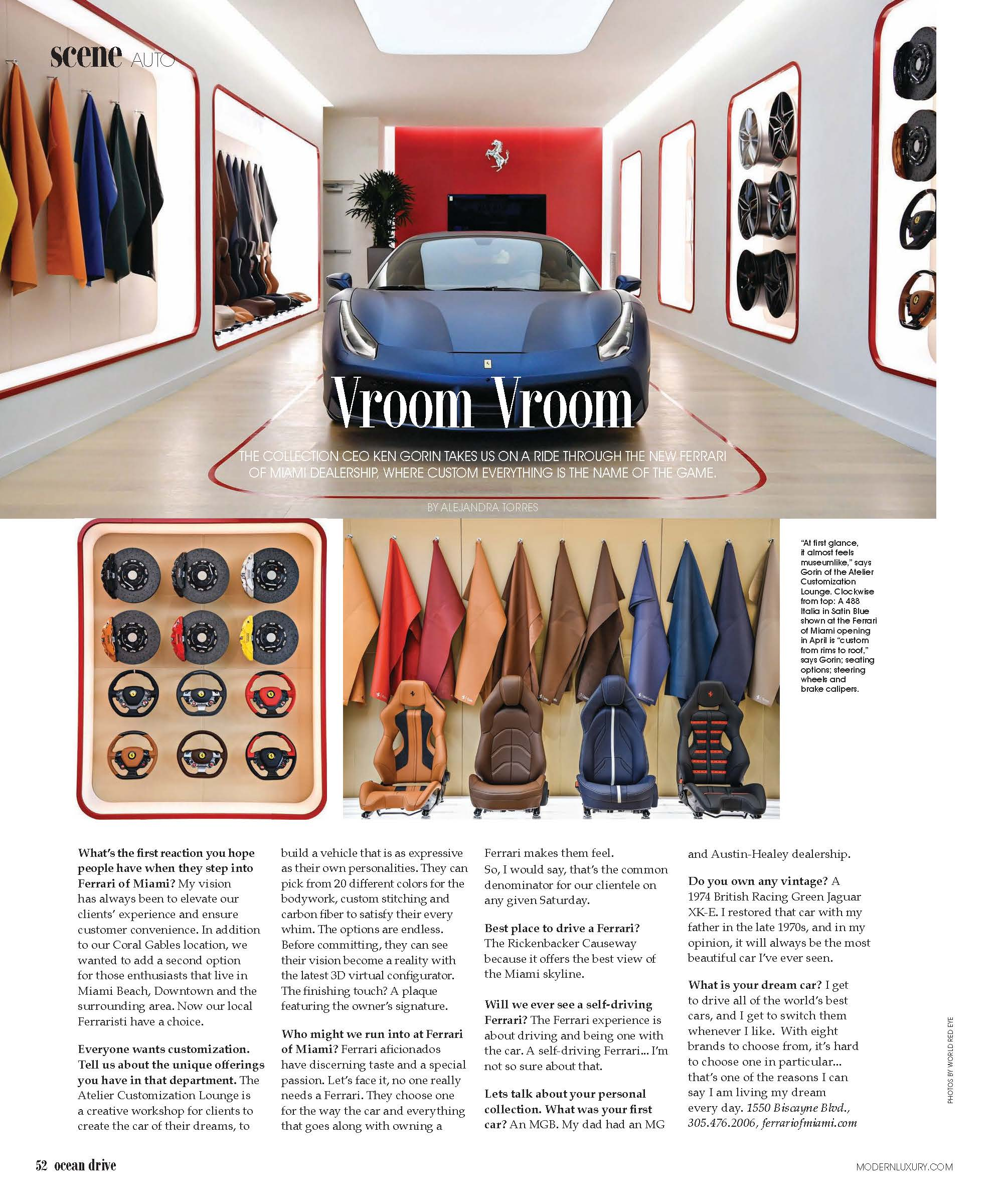 The Collection Ceo Ken Gorin On The New Ferrari Of Miami The Collection