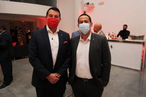 Andres Cruz and Antony Pinon at Ferrari Cocktail Event